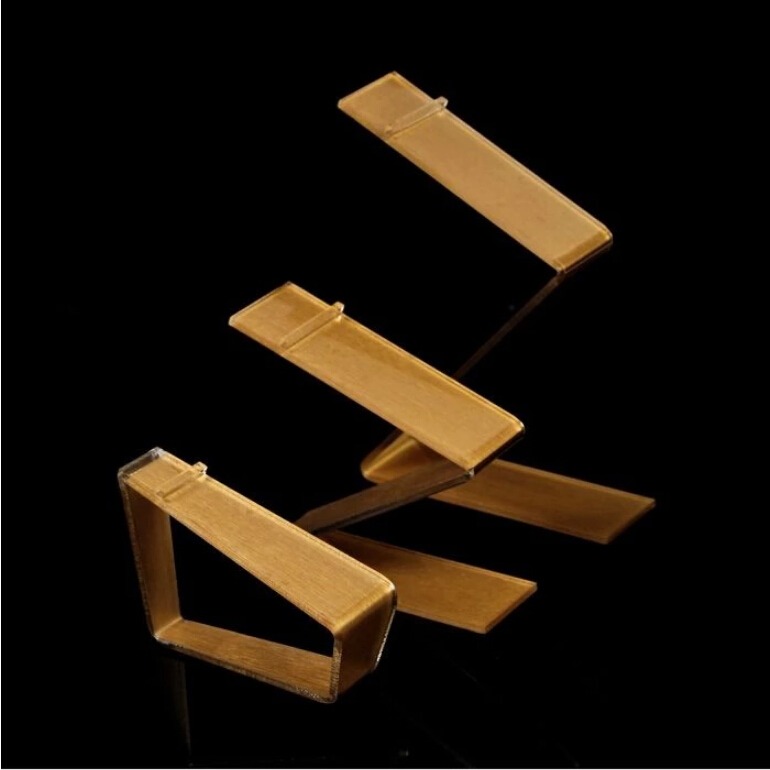 Free Shipping 4pcs Gold Color Acrylic Shoe Display Stand Shoe Display Racks