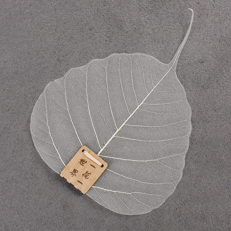 2017 New Creative Leaves of Tea Filter Net Leakage Bodhi Leaf Tea Kung Fu Tea Leaf Filter Accessories Creative Bookmarks