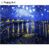 Monet DIY Oil Painting By Numbers On Linen Handmade Imitation Painting For Living Room Decoration Diy