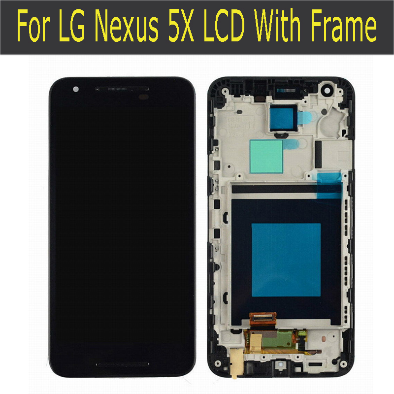 For LG Google Nexus 5X LCD Display Touch Screen Digitizer Assembly Replacements Screen new lcd touch screen digitizer with frame assembly for lg google nexus 5 d820 d821 free shipping