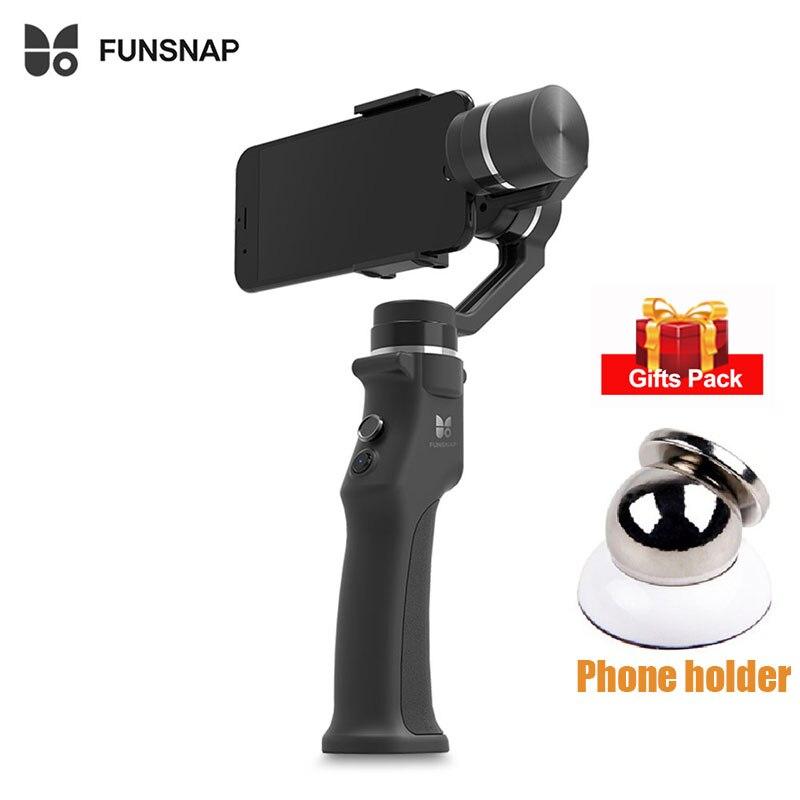 Funsnap captura 3 ejes cardán mano estabilizador de captura de tres ejes cardán sin escobillas estabilizador Smartphone de apoyo