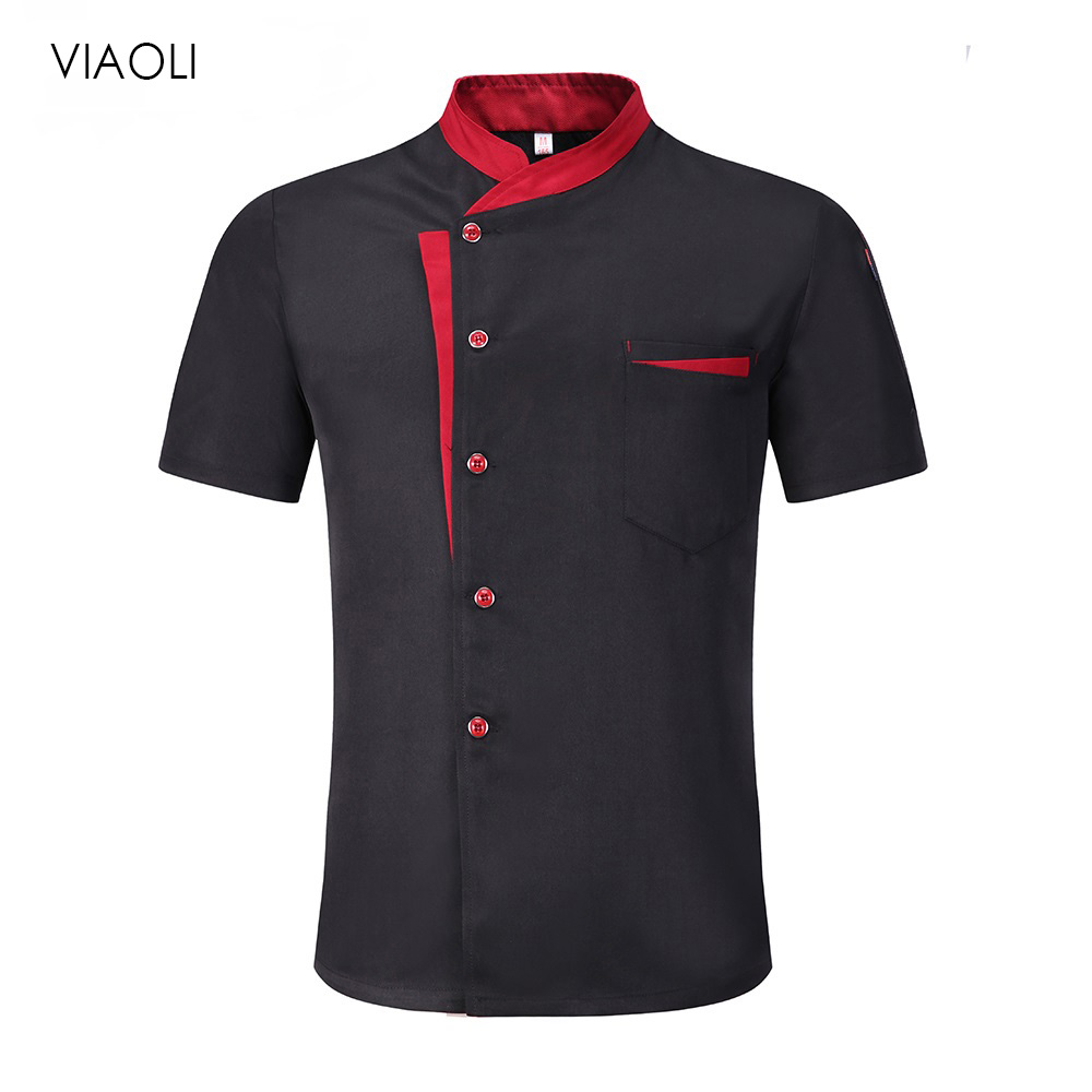 Chef Jacket Hotel Hotel Uniform Short Sleeve Mesh Breathable Work Clothes Catering Restaurant Kitchen Bakery Chef Uniform 2019