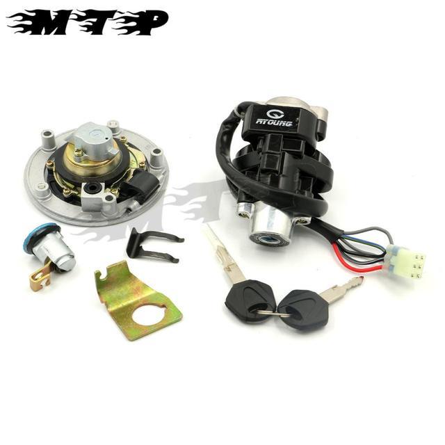 Motorbike accessories part 6 wires Ignition Switch Lock Gas Cap Key Set For Suzuki GSXR 600 750 SV 1000S 2004-2005 Motorcycle