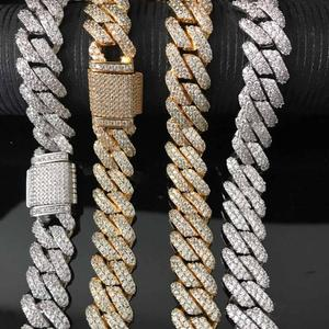Image 3 - Iced out bling bling prong cuban link chain