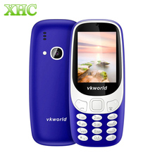 VKworld Z3310 Elder Phone 3D 2.4 inch 1450mAh 2.0MP GSM 2G Mobile Phone Dual SIM FM Torch Bluetooth Elder Phone Large Buttom