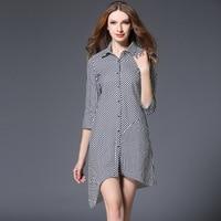 European High Quality Spring Blue And White Stripe Shirt Girls Long Fund European Easy Temperament Fashion