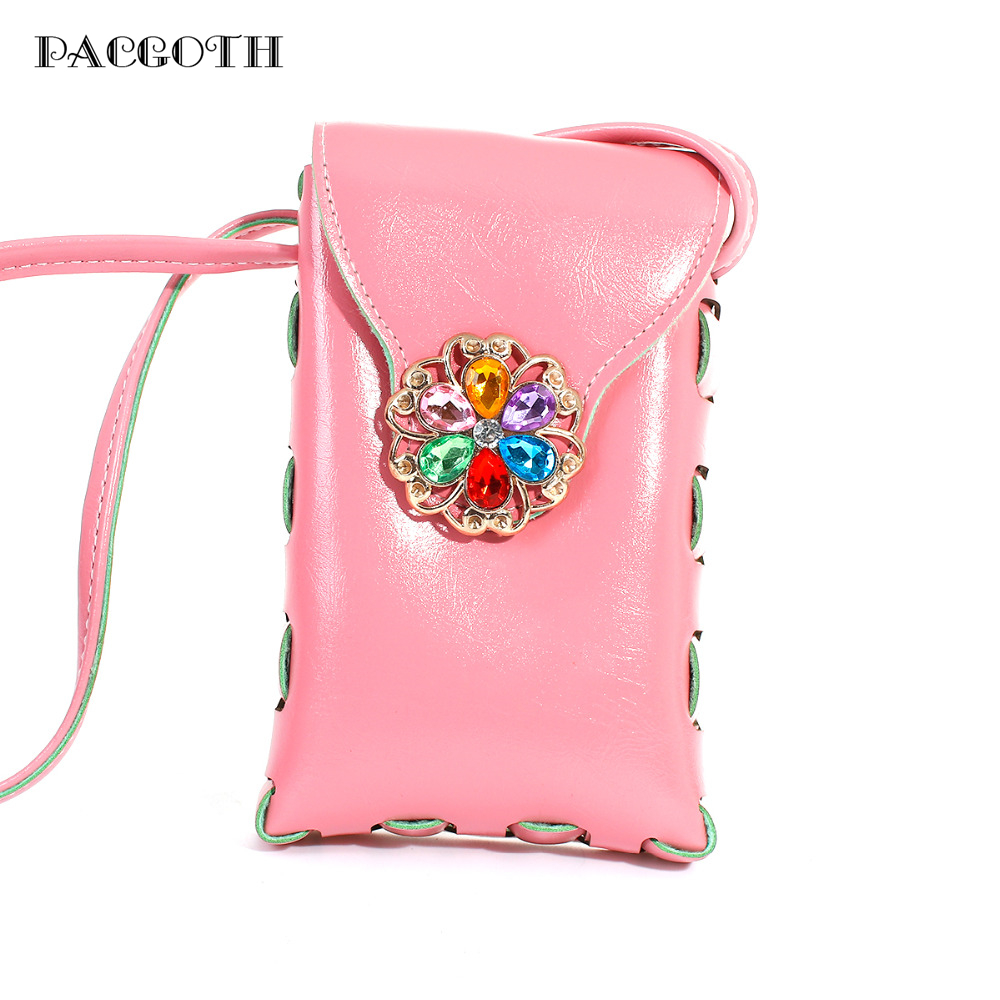 Pacgoth An And Korean Style Candy Color Pu Shoulder Bag Cell Phone Holder Crossbody Handbag For Women 17x11cm 1 Pc On Aliexpress Alibaba