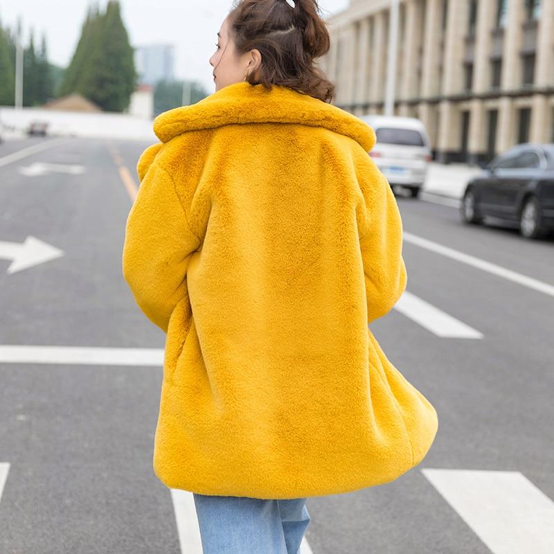 Costume Avec D'hiver Vêtements Gtgyff De Ciel Vestes beige Survêtement pink sky Col Pour Faux Veste Fourrure Blazer Blue Manteaux Chauds Bleu Gold Femmes Manteau 0U08wq