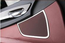 Stainless Steel Interior Car Door Speaker Loudspeaker Audio Ring Decoration Trim 2pcs For BMW 7 Series F01 2010 2011 2012 – 2015