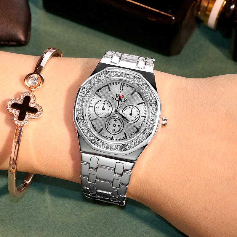 Luxury Ladies Watch Women Stainless Steel Fashion Diamond Women's Watches Female Clock Quartz Silver Watch Relogio Feminino