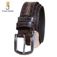 FAJARINA Top Quality Design Cow Skin Leather Belts Straps Male For Unisex Retro Styles Sewing Belt