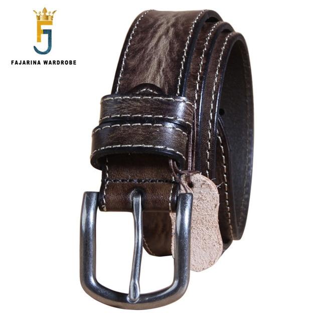 Fajarina calidad superior diseño piel de vaca cinturones de cuero Correas  macho para unisex retro estilos 8692450fdaca