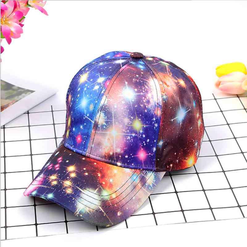 Kopfbedeckungen Für Damen Baseball-kappen Myzoper 2019 Mode Neue Starry Sky Graffiti Baseball Kappe Casual Flut Mesh Visier Frauen Hut Hip Hop Cap Kunden Zuerst