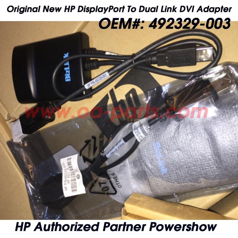 Первоначально Новая Для Bizlink и Для HP Displayport на Dual Link DVI Адаптер OEM #: 492329 003| |   - AliExpress