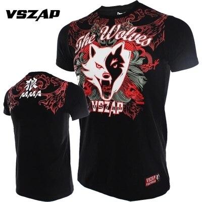 VSZAP WOLVES Cotton Short Sleeved T-shirt Muay Thai Hammer Men