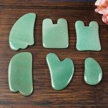 1 piece green Aventurine Gua Sha Board Stone Guasha  Acupuncture Massage Tool Body Face Relaxation Beauty Health Care Tool