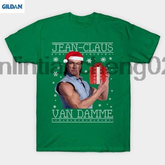 GILDAN Jean Claus Van Damme Christmas Knit T Shirt