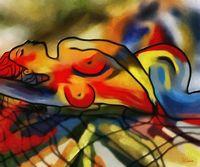 Музей Качество Настенный декор живописи мечта по celito медейрос абстрактная живопись маслом портрет обнаженной картина маслом для Гостиная
