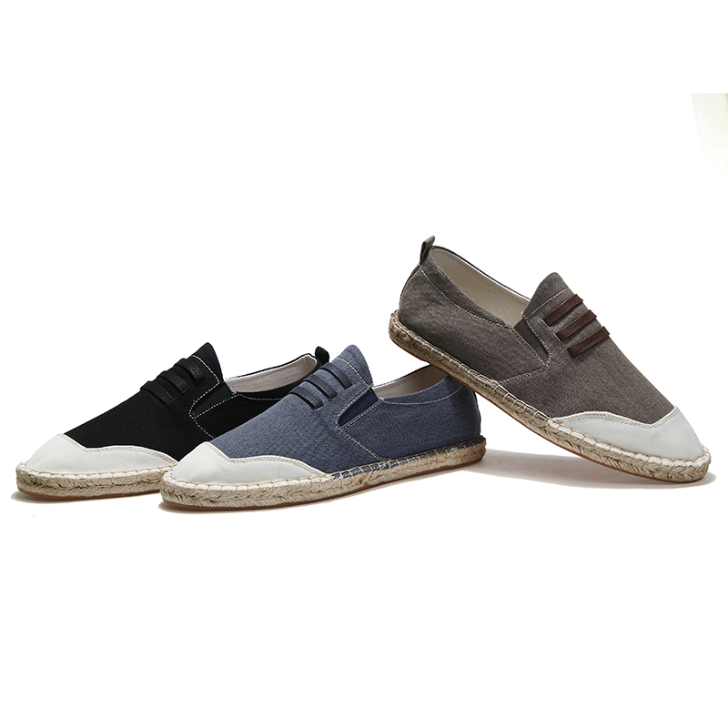 LAOCHRA Brand Male Canvas Espadrilles 2018 Top Sider Spring/Autumn - Men's Shoes - Photo 5