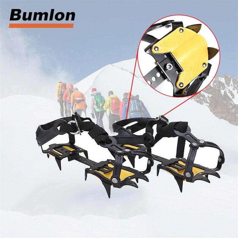 1 Paire de Livré Glace Pince Planche à Neige Crampons Crampons de Traction de L'appareil 10 Sharp En Acier pour Ski Escalade 15-0022