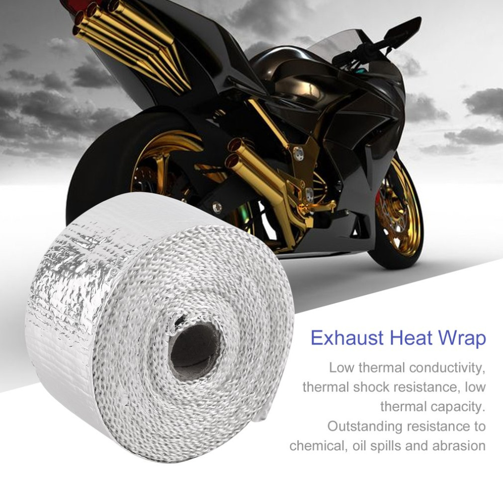 High Quality 5m5cm Silver Motorcycles Exhaust Header Wrap Kit Heat Tap: Motorcycle Exhaust Wrap Kit At Woreks.co