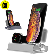 For Iphone X XR MAX 8/7/6/5/SE,Aluminum fine charging stand Dock Station For Apple watch stand For Airpods Holder