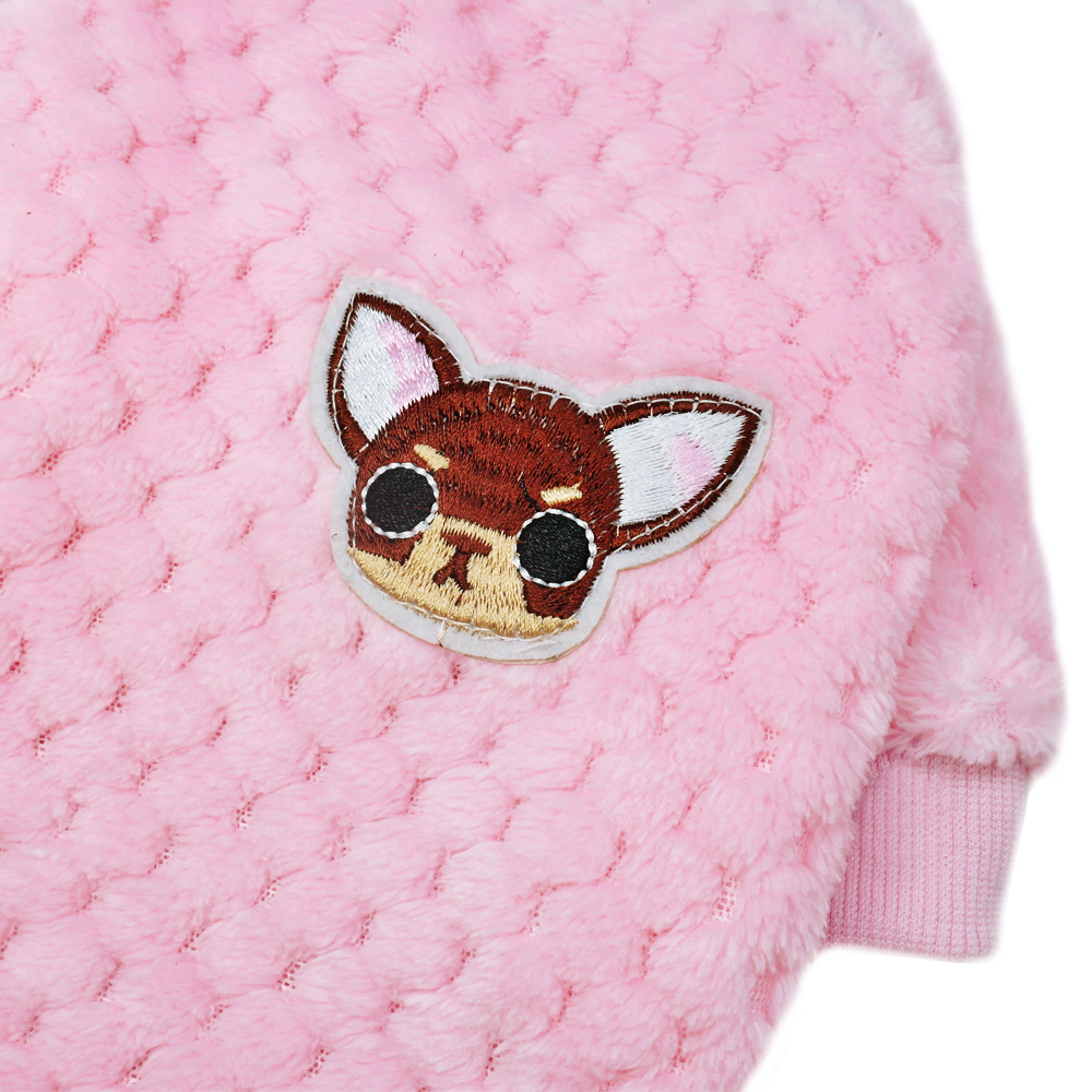 Warm Dog Jacket Made with Soft Fleece Material for Small and Medium Dogs 4