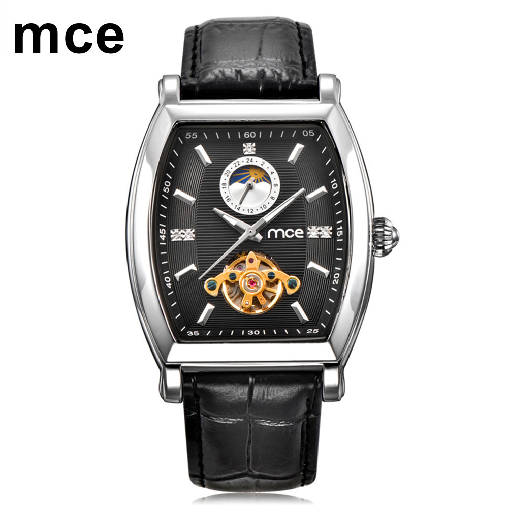 MCE 2018 Retro Classic Designer Silver Stainless Steel Case Men Watches Top Brand Luxury Mechanical Automatic Watch Clock Men mce men s fashion stainless steel band analog mechanical watch black silver