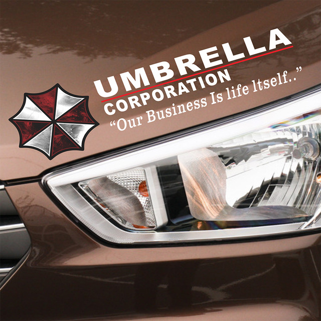Car-styling Umbrella Corporation Car Sticker Sports Mind Eyelid Decal for Bmw E39 Ford Focus Vw Polo Skoda Golf Audi Opel Toyota racing pattern car styling sticker sport design for motorcycle auto waterproof reflective decal for ford vw opel renault bmw kia