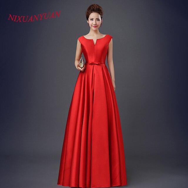 Vestidos de noche rojos largos