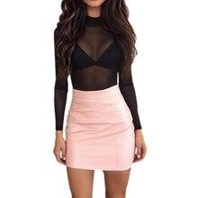 6189a167c0c7 De Cuero Rosa Faldas de alta calidad - Compra lotes baratos de De ...