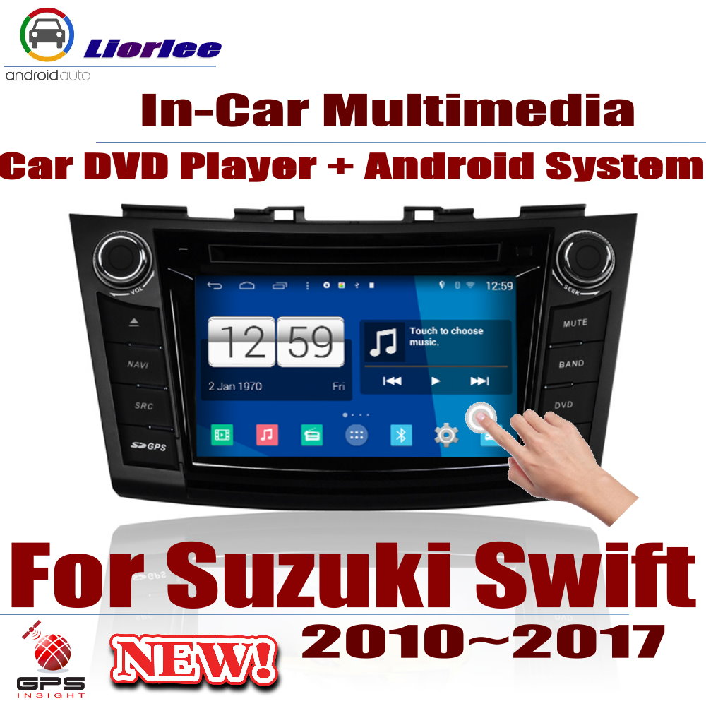 Car Radio DVD Player GPS Navigation For Suzuki Swift 2010~2017 Android HD Displayer System Audio Video Stereo In Dash Head Unit