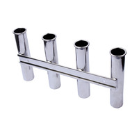 BOAT STAINLESS STEEL ROD HOLDER 4 LINK ROD HOLDER 4 RACK MARINE FISHING ROD POD Boat