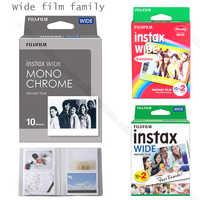 Genuine Fujifilm Instax Wide Film Monochrome/White/Rainbow For Fuji Instant Polaroid Instax Wide Camera 300/200/210/100/500AF