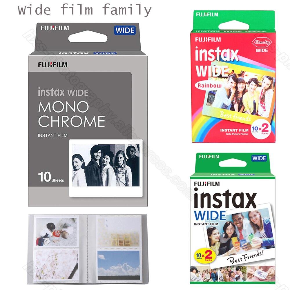 Véritable Fujifilm Instax Large Film Monochrome/Blanc/Arc-En-Pour Fuji Instantanée Polaroid Instax Large Caméra 300/200 /210/100/500AF
