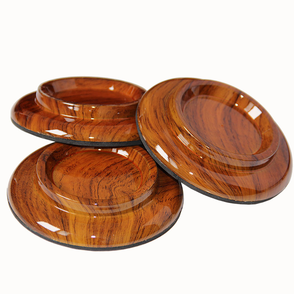 Piano Caster Cups Round Superior Rose Wood Color Cup Foot Pads for Grand Piano / Piano Accessories 3pcs/set adam perlmutter piano for dummies