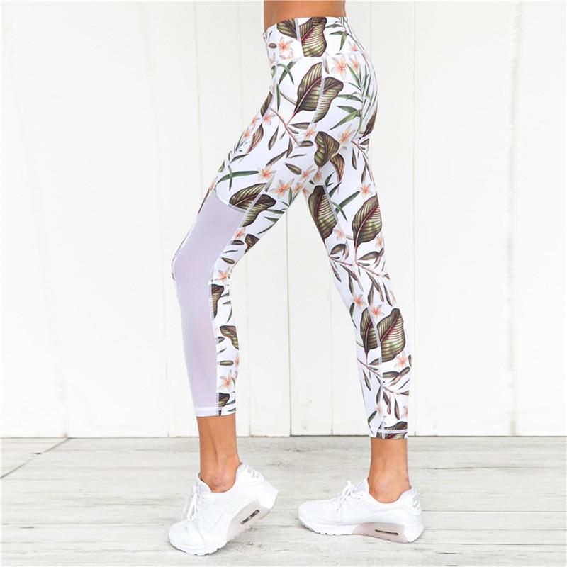 2018 Yoga Sport жиынтығы Floral Print Vest Tants Фитнес - Спорттық киім мен керек-жарақтар - фото 4