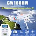 GW180HW RC Drone con 2MP/1080 P/4 K Wifi FPV Cámara de mantenimiento de Altitud GPS bueno como dji phantom 3 phantom 4 hubsan rc quadcopter h501s