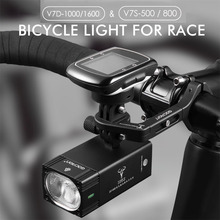 GACIRON Smart Bicycle Headlight Bike Race Light Flashlight With Mount Holder IPX6 USB Remote Switch MTB Road Cycling LED Lamp