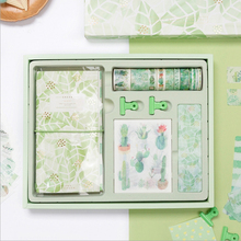 Green Hope Scrapbooking Gift Pack Cute Diary Planner Notebook Stickers Washi Tapes Clips Stationery