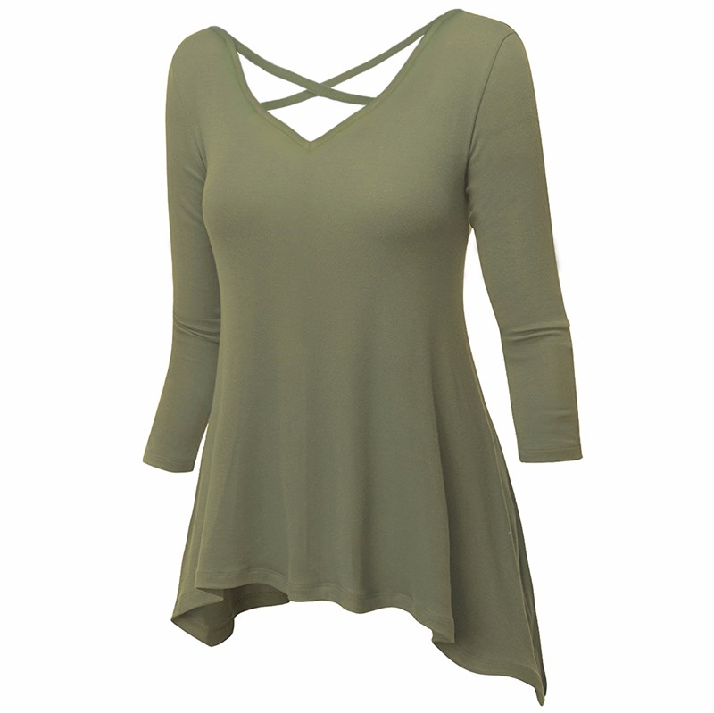 Green T-shirt Women 2