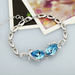 Image 4 - Neoglory avusturya kristal mavi takı seti düğün gelin Charm doğum günü hediyeleri için kız arkadaşı kadınlar 2020 yeni JS11