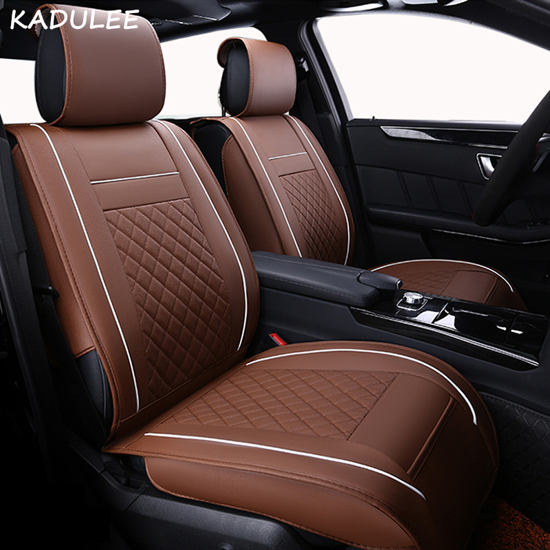 KADULEE Auto automobiles Leather font b car b font seat cover For BMW e30 e34 e36