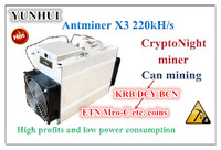 O Mineiro Antminer CrptoNight X3 220KH/S Com Alimentação XMC BCN ETN Miner Better Than S9 S11 S15 t15 Z9 Z11 S17 WhatsMiner M3