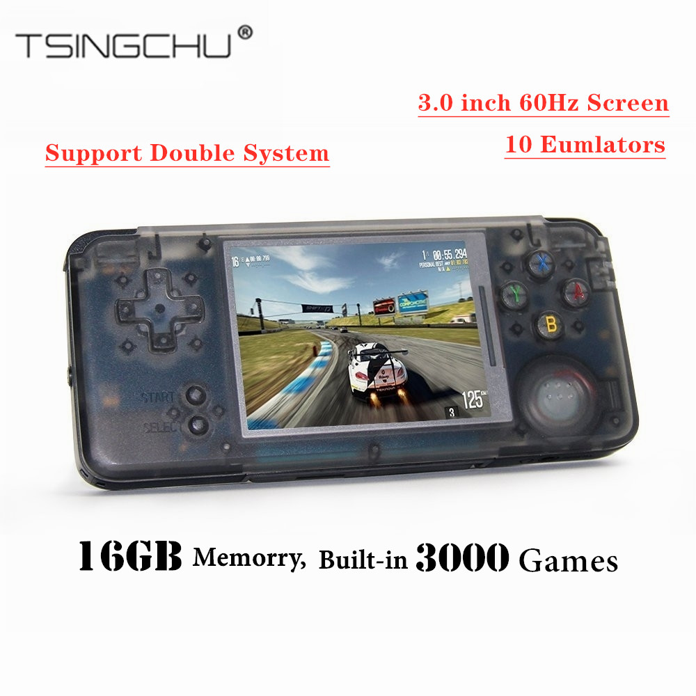 TSINGO Retro Game Console Built-in 3000 Classic Games 64bit 16GB Multifunction Portable Handheld Game Player TV Output Best Gift air conditioning