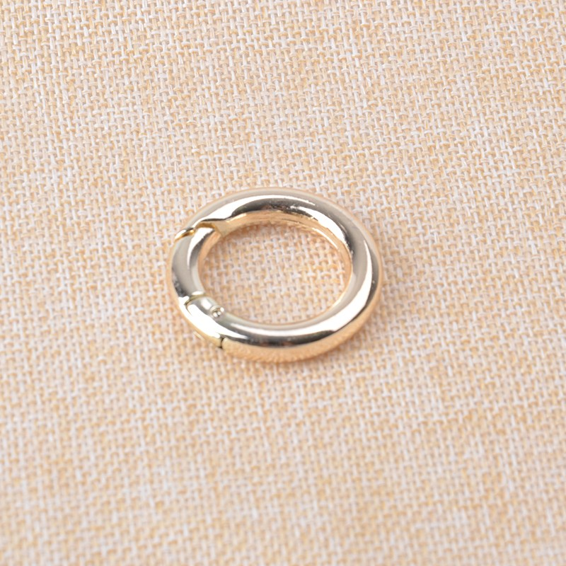 3/4 inch Gold Plated Spring O Ring 20mm inner Dia. Zinc Alloy Metal Ring For Bag Making 20pcs/lot