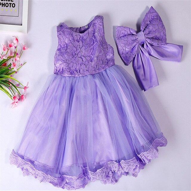 b3da747320 Lace Girl vestidos para bebé recién nacido niña vestido de fiesta 1 T  cumpleaños prom ropa