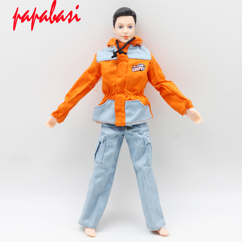 One Set Prince Doll Casual Handmade Clothes Fashion Soldier Outfits for barbie boy firend for barbie doll ken W010 30 new styles festival gifts top trousers lifestyle suit casual clothes trousers for barbie doll 1 6 bbi00636