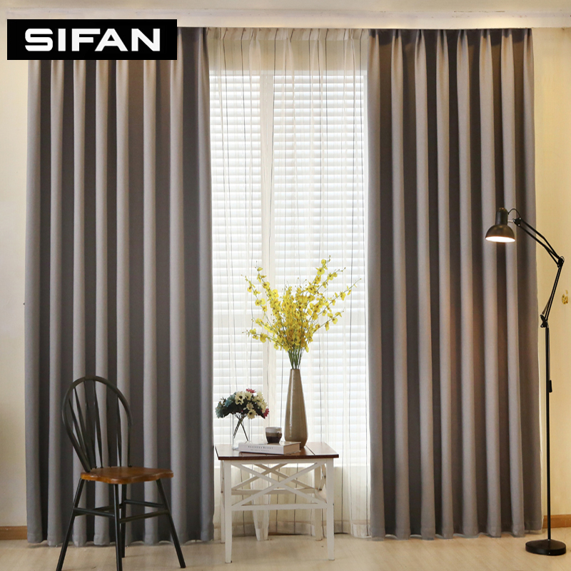 Solid color faux linen blackout curtains for living room modern curtains for bedroom window - Modern living room curtains photos ...