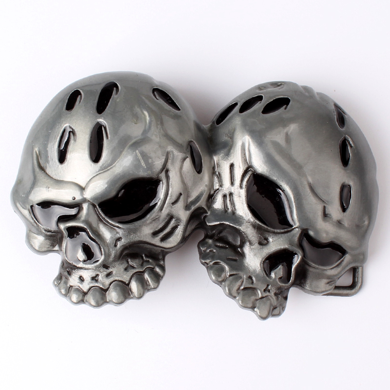 Two Skulls  Belt Buckle